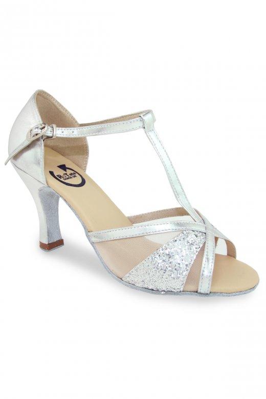 Rotate leanne ladies 39 silver ballroom shoes dancewear for Danse de salon 95