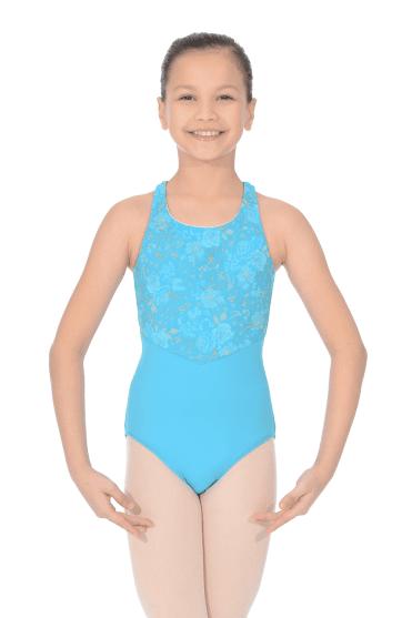 Girls  Cross Over Back Leotard Nouveau. Turquoise · Bloch Justaucorps de  danse pour fille turquoise c5921eef312
