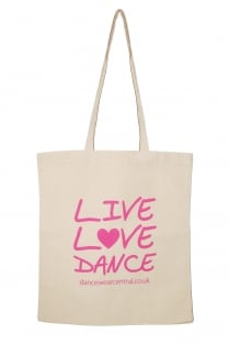 """Live Love Dance"" sac en coton"