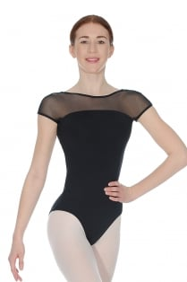 Strappy Back Cap Sleeve Leotard