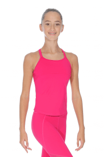 ec6dc52aeadcf Girls' Fitted Top. Bloch Top Maille et Dos Croisé Fille